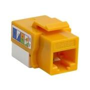 4XEM™ UTP 110-Type Cat5e RJ45 Keystone Jack, Yellow (4XKJC5EYL)