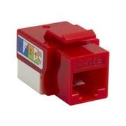 4XEM™ UTP 110-Type Cat5e RJ45 Keystone Jack, Red (4XKJC5ERD)