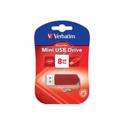 Verbatim ® Store 'n' Go 8GB Mini USB 2.0 Flash Drive, Red (49831)