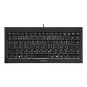 CHERRY USB Compact Quiet Keyboard, Black (JK-0700)