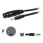 COMPREHENSIVE CABLE® Standard Series 3' XLR Jack/Stereo 3.5mm Mini Plug Audio Cable, Black