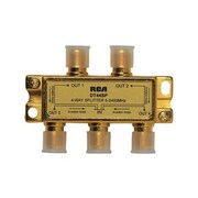 RCA® DH44SPR 2.4 GHz 4 Way Bi-Directional Signal Splitter, Gold
