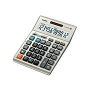 Casio ® DM-1200BM 12 Digit Extra Large Display Simple Calculator, Gray
