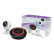 EnGenius® EBK1000-1 Wired/Wireless EnGuardian Kit with HD 720p IP Camera & Dual-Band IoT Gateway, Black/Red/White