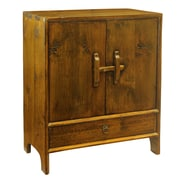 Antique Revival Vintage Dongbei Style 2 Door Cabinet; One Size