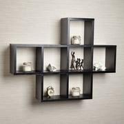 DanyaB Cubby Wall Shelf; Black