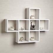 Latitude Run Cubby Wall Shelf; White