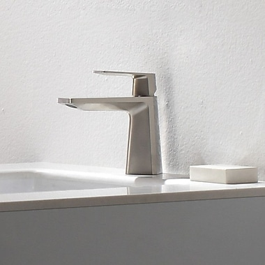 Kraus Exquisite Aplos Single Lever Basin Faucet w/ Drain Assembly; Brushed Nickel
