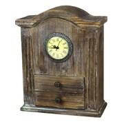 Quickway Imports Vintage Wooden Desk Clock