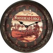 American Expedition 15'' Moosehead Rusty Metal Clock