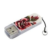 Verbatim ® Tattoo 8GB Mini USB 2.0 Flash Drive, Rose (98660)