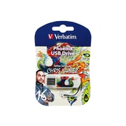 Verbatim® Tattoo Series Phoenix 16GB Mini-USB 2.0 Flash Drive (98517)