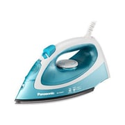Panasonic 1500 W Circulating Steam Iron, White/Light Blue (NI-P300T)