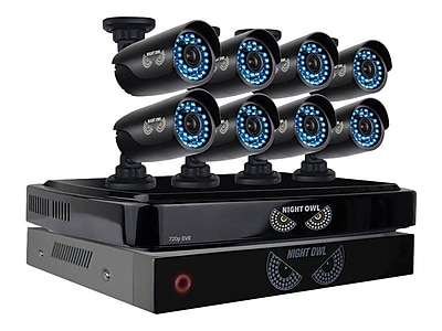 Night Owl 8 Channel Smart Video Security System with 8 Cameras and 2TB HDD B BBA720 82 8