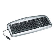 Tripp Lite IN3005KB USB Corded Multimedia Keyboard, Silver/Black