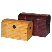 Quickway Imports Barn 2 Piece Wood Trunk Set