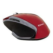 Verbatim ® 99018 USB Wireless Notebook 6-Buttons Deluxe Blue LED Mouse, Red