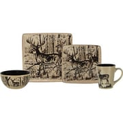 American Expedition Deer 16 Piece Dinnerware Set