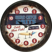 American Expedition 15'' Sure Catch Rusty Metal Clock