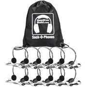 Hamilton Buhl HA2V Sack-O-Phones 10-User Personal Headset Kit, Gray