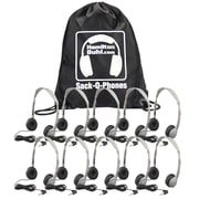 Hamilton Buhl SOP-MS2L Sack-O-Phones 10-User Personal Headset Kit, Gray