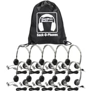 Hamilton Buhl MS2LV Sack-O-Phones 10-User Personal Headset Kit, Gray