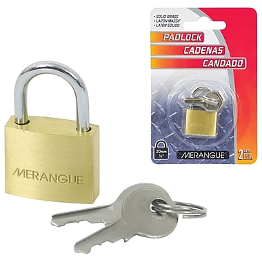 Merangue Solid Brass Padlock, 20mm, 6/Pack