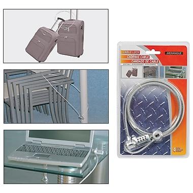 Merangue Multipurpose Combination Cable Lock, 6/Pack