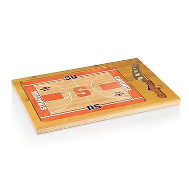 Picnic Time NCAA Icon Cutting Cheese Tray; Syracuse University Aggressive Otto Orange