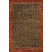 Momeni Desert Gabbeh Hand-Knotted Brown Area Rug; 8' x 11'