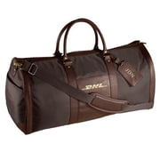 Andrew Philips 24'' Leather Metro Convertible Travel Duffel; Brown