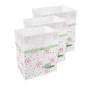 Clean Cubes LLC Snowflake Pattern 10 Gallon Recycling Waste Basket (Set of 3)