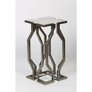 Prima Value Geometric End Table; Pewter