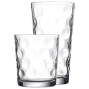 Home Essentials and Beyond 16 Piece Eclipse Glassware Set
