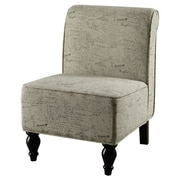 Monarch Specialties Inc. Vintage French Fabric Traditional Slipper Chair