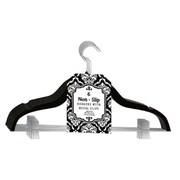 Signature Home Brands Velvet Skirt/Pant Hangers with Metal Clips (Set of 72); Black