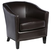 Home Loft Concepts Starks Barrel Chair; Brown