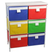 Household Essentials Tower Organization Storage Stand With 6 Bins And 2 Removable Shelves