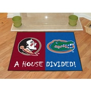 FANMATS NCAA House Divided: Florida State / Florida House Divided Mat