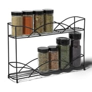 Spectrum Diversified Countertop 2-Tier Spice Rack; Black