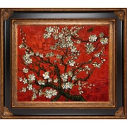 Tori Home Branches of an Almond Tree in Blossom (Red) by Van Gogh Framed Hand Painted Oil on Canvas