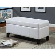 Modus Urban Seating Bedroom Storage Bench; White