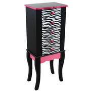 Teamson Kids Teamson Kids Fashion Prints Zebra Jewelry Armoire w/ Mirror