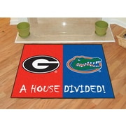 FANMATS NCAA House Divided: Georgia / Florida House Divided Mat