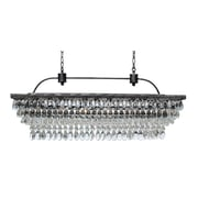 LightUpMyHome The Weston 6-Light Crystal Chandelier; Antique Silver