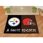 FANMATS NFL House Divided - Steelers / Browns House Divided Mat