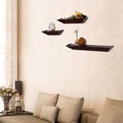 AdecoTrading 3 Piece Floating Wall Shelf Set