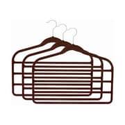 Signature Home Brands Velvet 4-Bar Slack/Pant Hangers (Set of 36); Brown