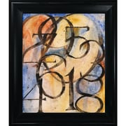 Tori Home Artisbe 0 to 9 by Clive Watts Framed Textual Art