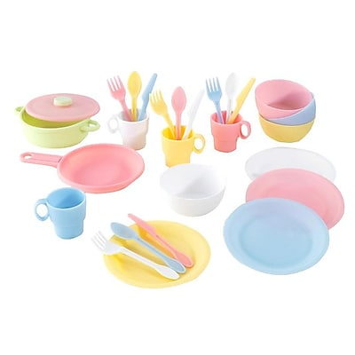 KidKraft 27 Piece Cookware Play Set; Pastel